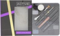 Active Glamour Night Look Cosmetic Palette - Øyenskygge + Svart Eyeliner + Lipgloss + Svart Mascara + Speil