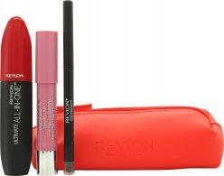 Revlon Love Series Essentials Gavesett 1 x All-in-One Mascara + 1 x Balm Stay + 1 x ColorStay Eyeliner + Cosmetic Bag
