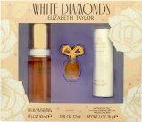 Elizabeth Taylor White Diamonds Gavesett 30ml EDT + 3.7ml Parfum +  28g Satin Body Talc