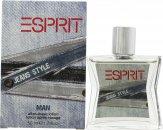 Esprit Jeans Style Aftershave 50ml Splash